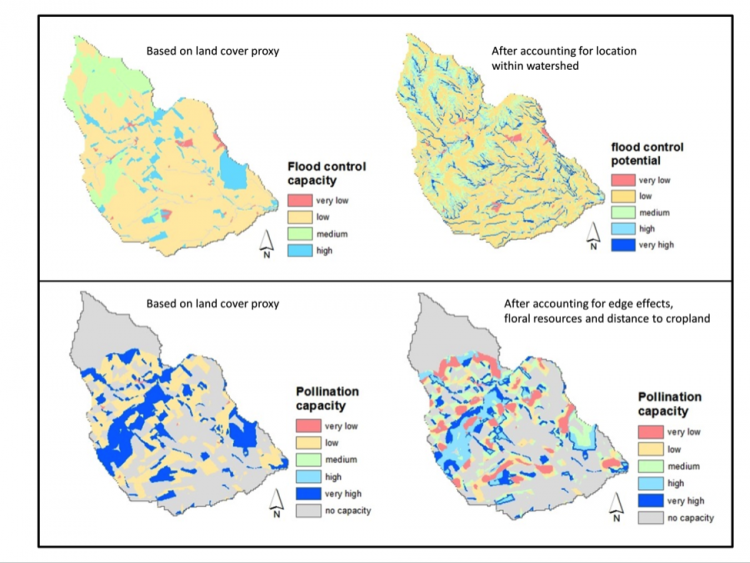 Landscape structure and mapping ecosystem services
